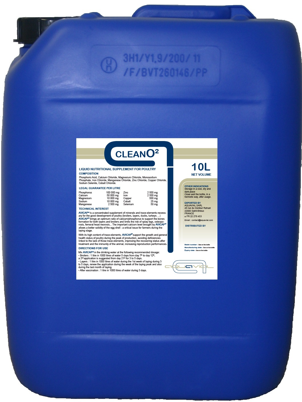CleanO2- Aquavial Pipe-cleaning & disinfectant