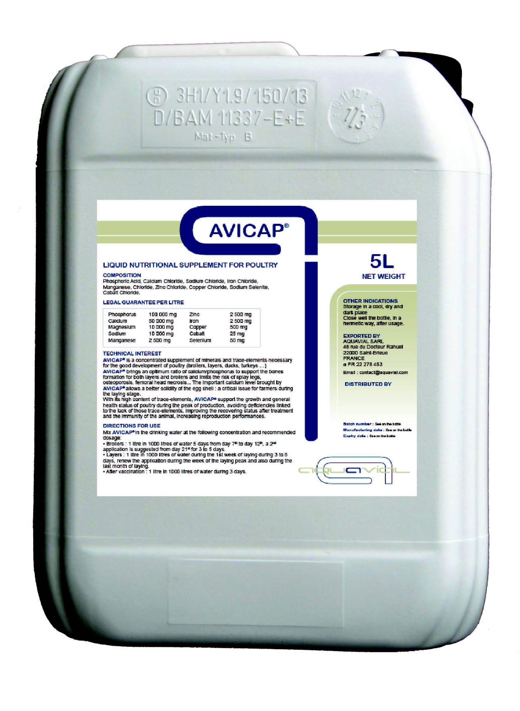 Avicap - LIQUID NUTRITIONAL SUPPLEMENT FOR POULTRY