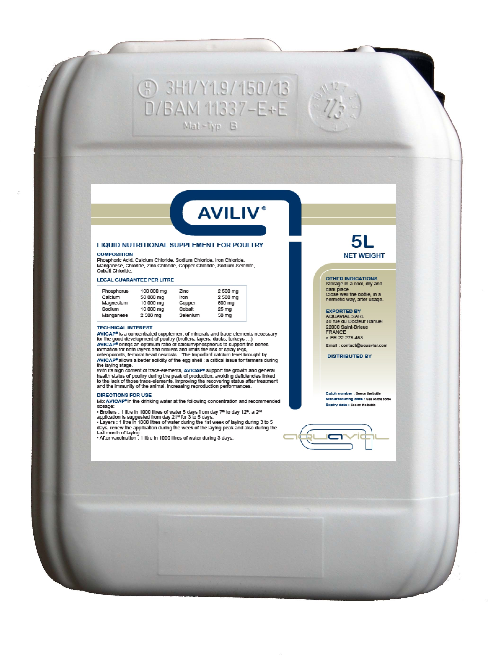 Aviliv - Aquavial liquid nutritional supplement for poultry