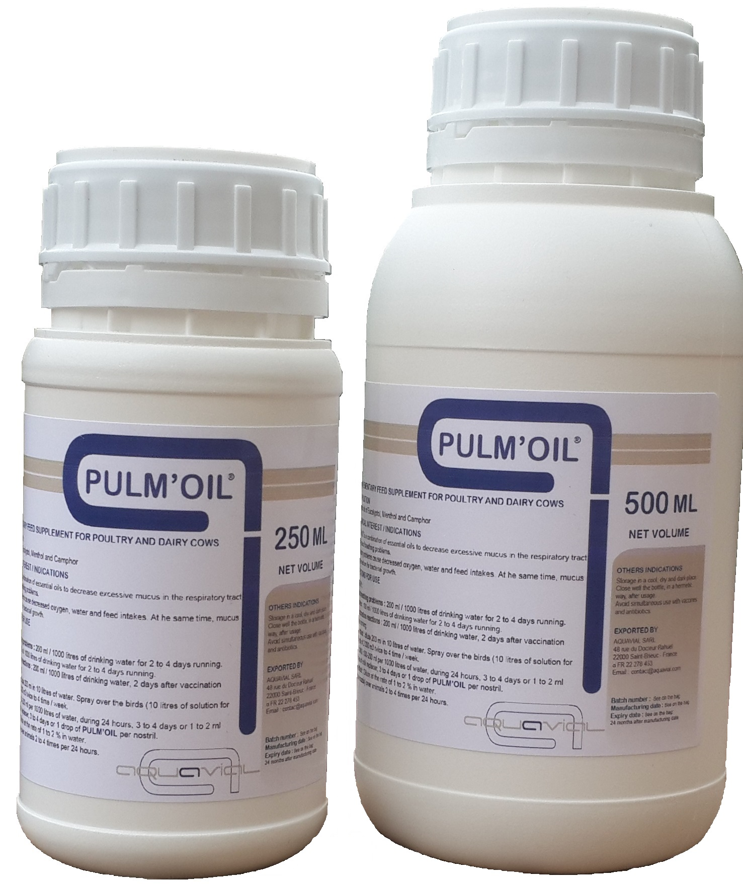 Pulm'Oil - Aquavial liquid nutritional supplement for poultry